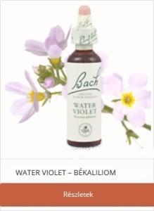 Water Violet Békaliliom Bach-virágterápia Magányosság csoport