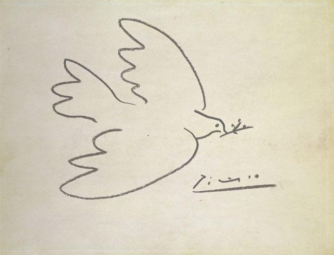Picasso: Békegalamb