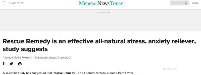 Szorongás és a stressz tüneteit csökkenti a Rescue Elsősegély keverék.
