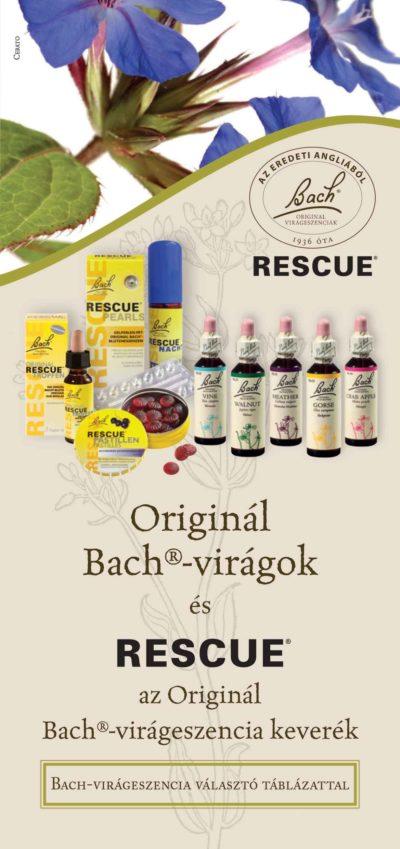 Originál Bach-virágeszenciák és Rescue keverék-prospektus