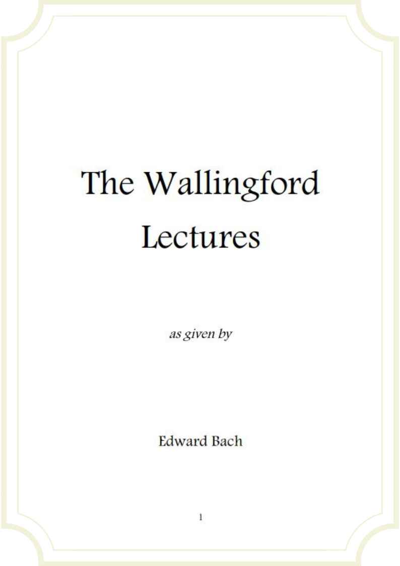 The Wallingford Lactures